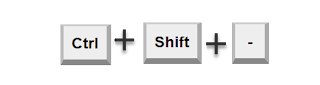 Ctrl Shift - to collapse FastTabs in AX