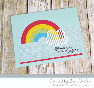 You Made My Day a Little Bit Brighter card-designed by Lori Tecler/Inking Aloud-stamps and dies from Lil' Inker Designs
