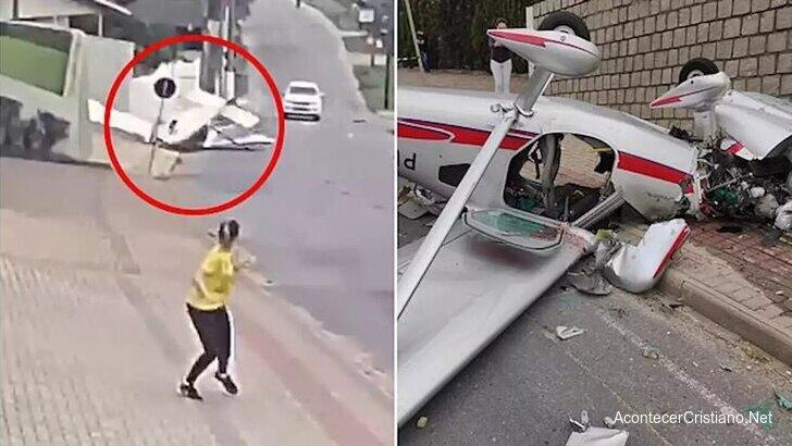 Hombre sobrevive a caída de avioneta