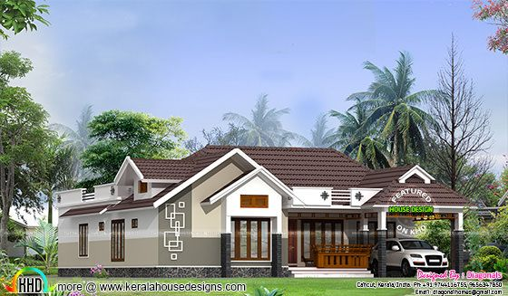 4 bedroom traditional sing floor home
