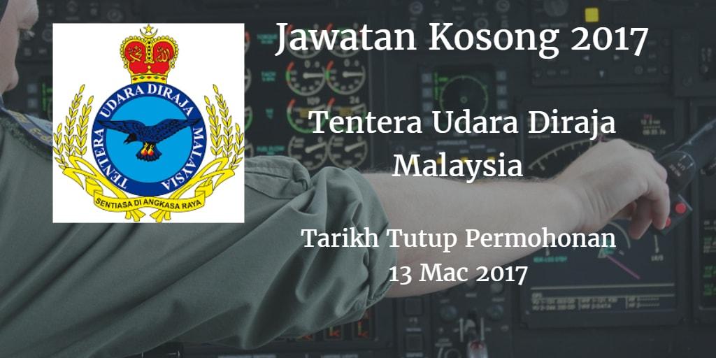 Jawatan Kosong TUDM 13 Mac 2017