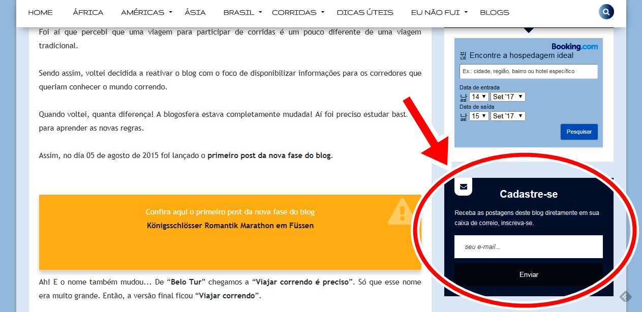 Como receber os posts do blog