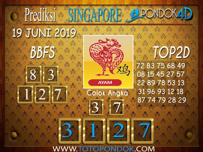 Prediksi Togel SINGAPORE PONDOK4D 19 JUNI 2019