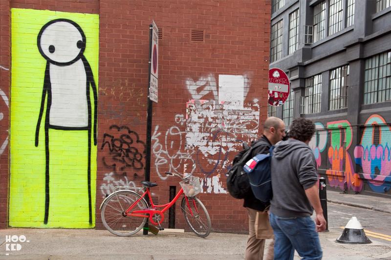 London Street Art by artist Stik on Redchurch Street