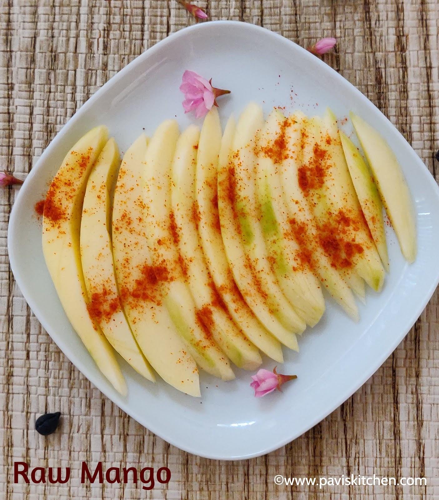 Green Mango Salad | Raw Mango Kachumber