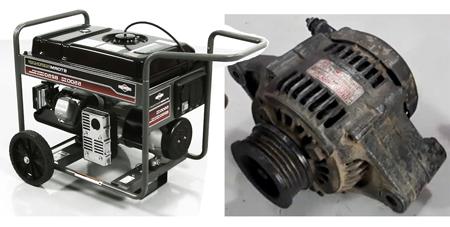 generator vs alternator