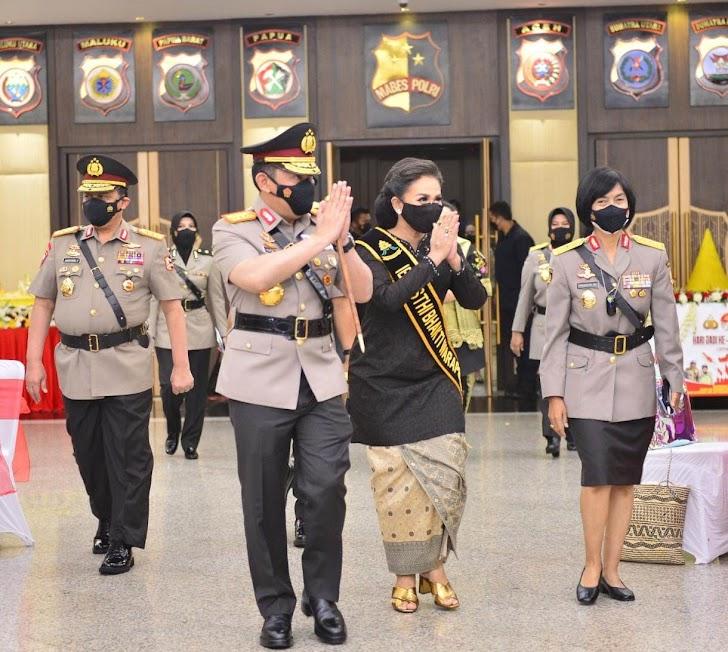 Kapolri, Jadilah Srikandi Polri yang Membawa Harum Nama Institusi di Peringatan Hari Jadi ke-73 Polwan RI