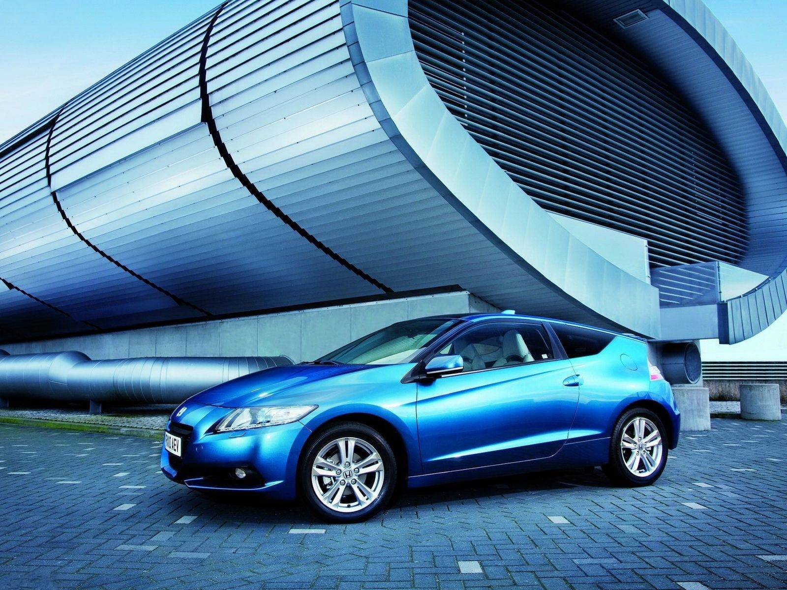 Blue Honda Cr Z Hybrid Car Hd Wallpaper Hd Car Wallpapers