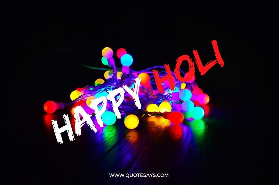 Happy Holi with colorful lights