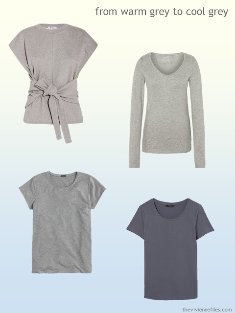 grey cotton tops from warm grey to cool grey