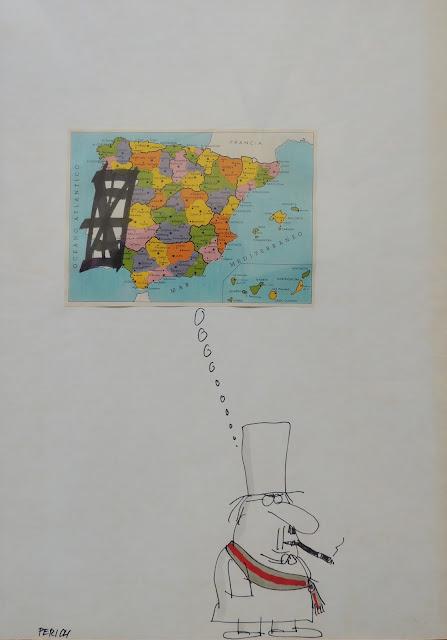 Jaume Perich ilustración España satírica dibujo Gaudifond Arte