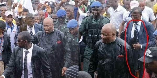 Don't cover me with umbrella, I prefer the brooms, says Akpabio