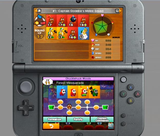 Mario & Luigi Superstar Saga + Bowser's Minions Captain Goomba squad