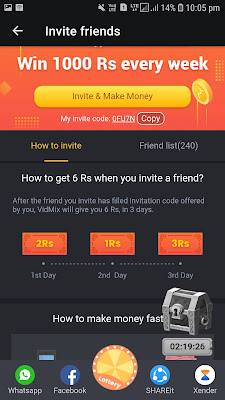 new version vidmix invite and earn in hindi 2019