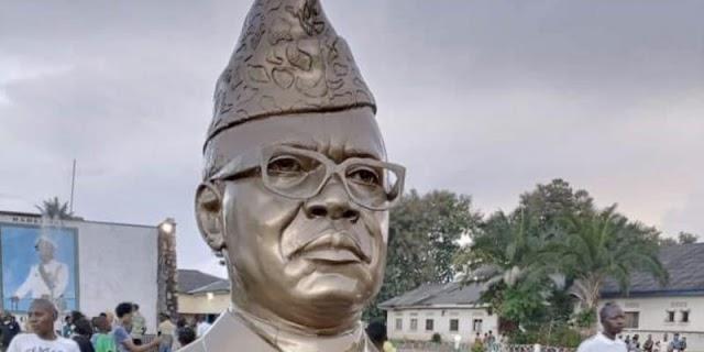 RDC : Un buste de Mobutu trône à Gbadolite