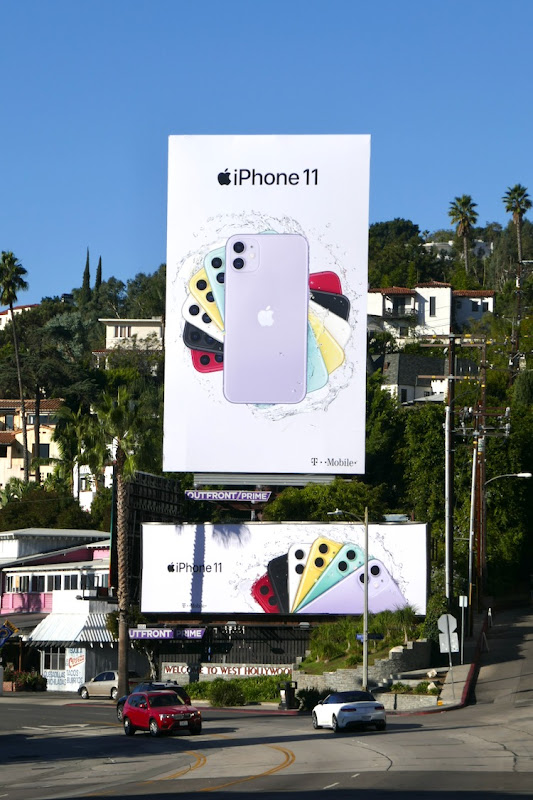 Apple iPhone 11 Holidays 2019 billboards Sunset Strip
