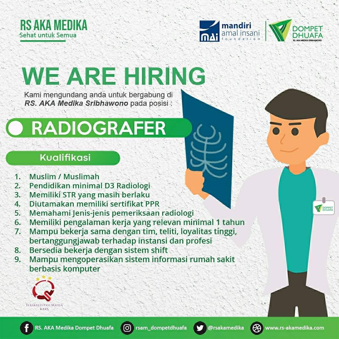 loker radiografer RS AKA Medika Lampung