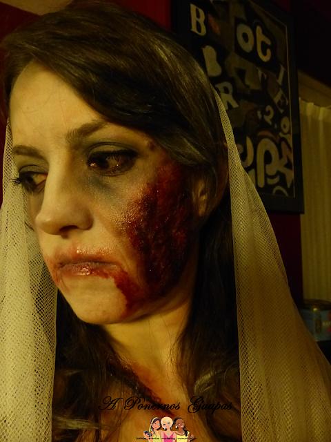 Maquillaje halloween novia zombie Oriflame 4