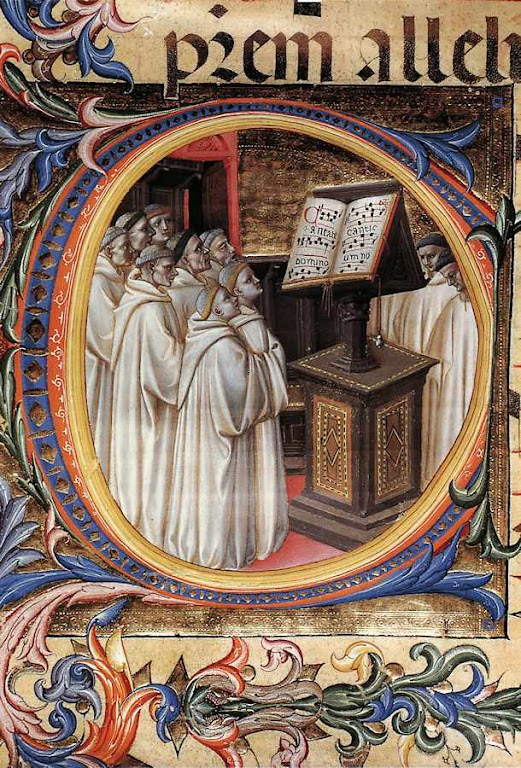 Monges cantando o Ofício Divino