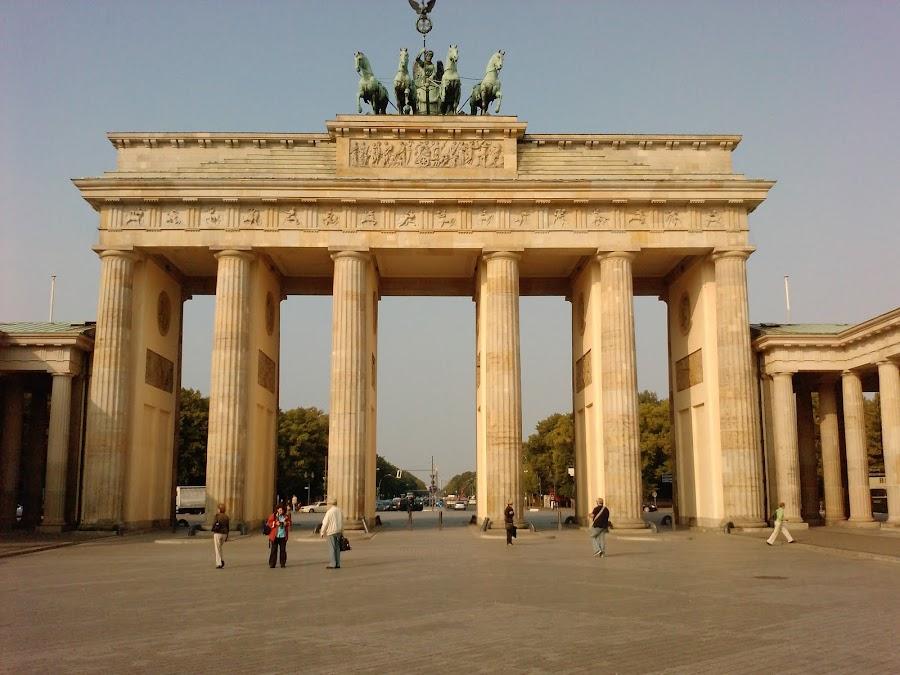 La Puerta de Brandenburgo en Berlín, Alemania