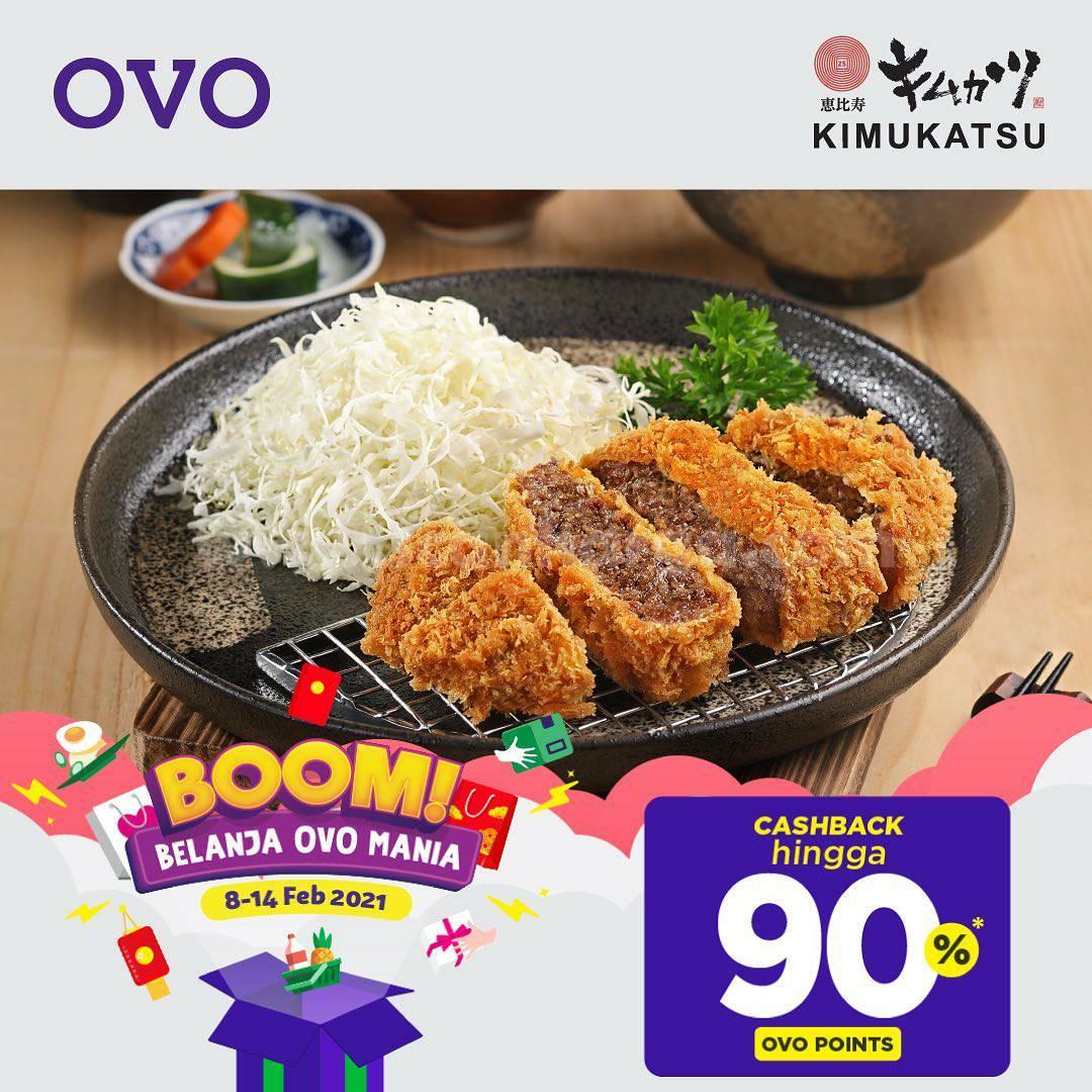 KIMUKATSU Promo BOOM Belanja OVO Mania! CASHBACK 90% dengan OVO Points