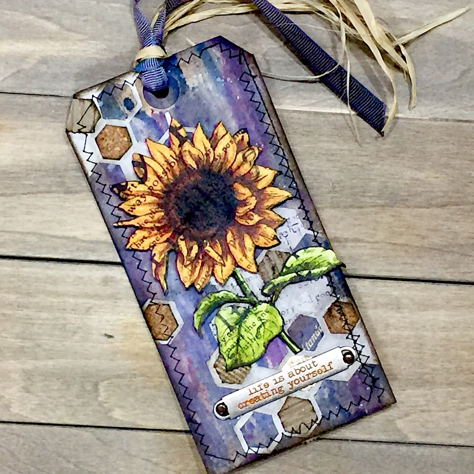 tim holtz 12 tags sunflower