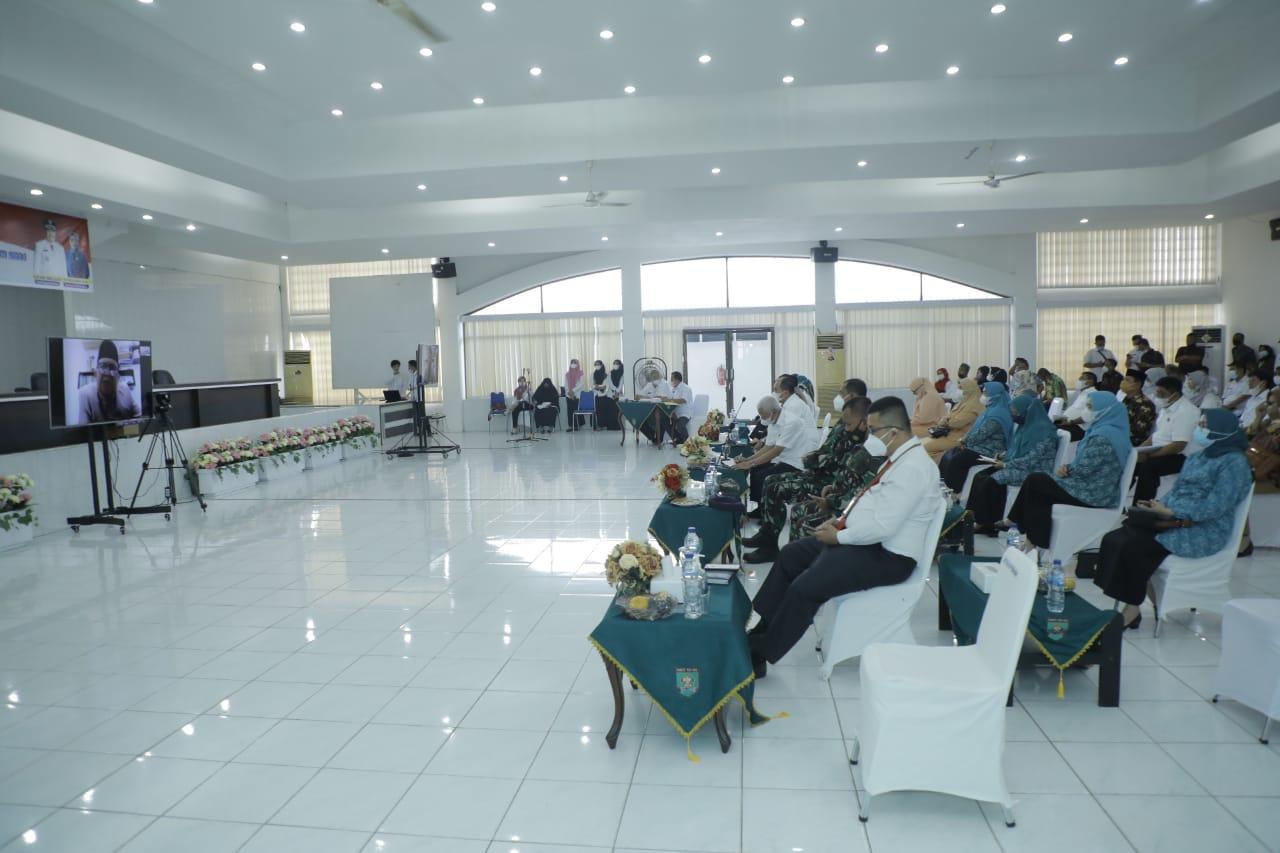 Dinas P2KBP3A Kabupaten Asahan Mengikuti VLH Evaluasi Kota Layak Anak Kabupaten Asahan Tahun 2021Secara Virtual