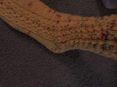handgebreide sokken.