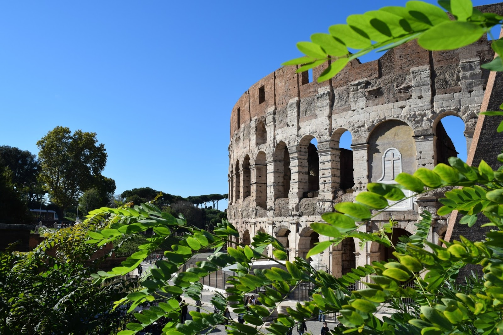 colosseum in rome in october