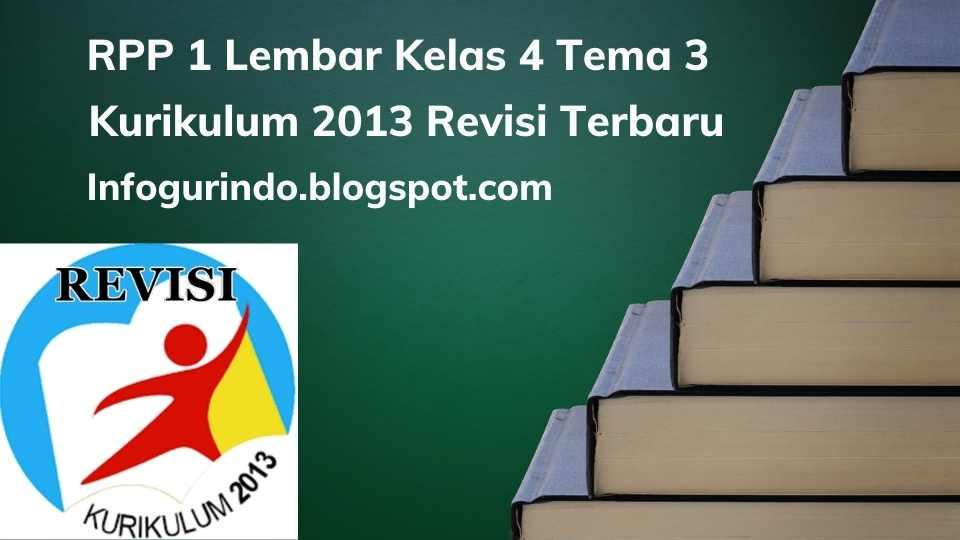 RPP 1 Lembar K13 Kelas 4 Tema 3 Semester 1 Revisi 2020