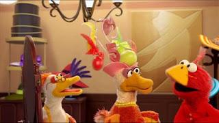 Elmo imagines he's a bird, Elmo the Musical Bird the Musical, The Most Unusual Watermelon, Play Ball, Sesame Street Episode 4401 Telly gets Jealous season 44