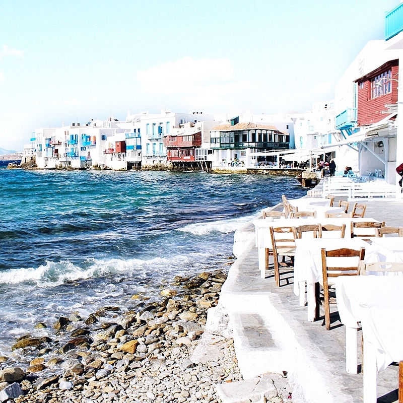 best travel photos of Little Venice in Mykonos