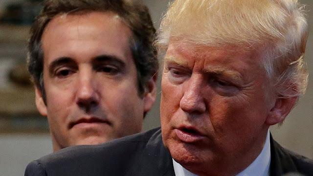 Trump niega irregularidades y acusa a Cohen de inventar historias