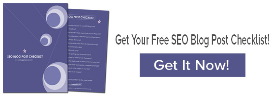 a freebie checklist for SEO Blog post writing