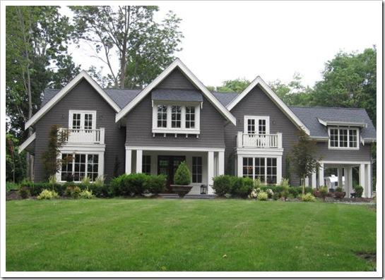 Trove interiors pretty on the outside - Grey house exterior with white trim ...