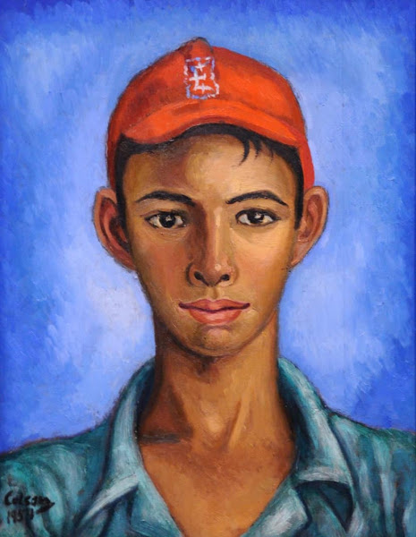 Muchacho con gorra roja, 1951