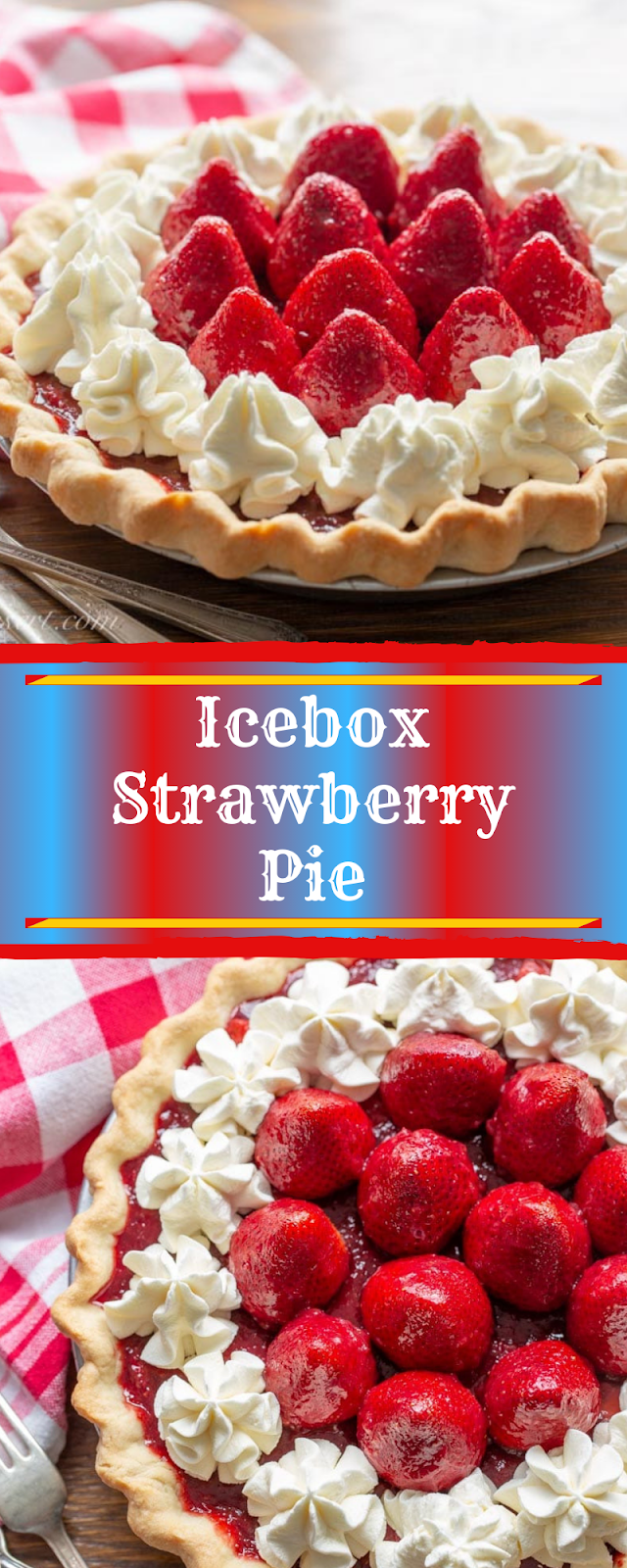 Icebox Strawberry Pie