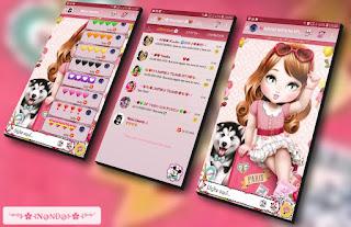 Jolie Girls & Dog Theme For YOWhatsApp & Fouad WhatsApp By Nanda