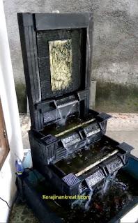 Kolam Ikan Air Mancur Minimalis
