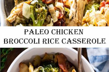 "Paleo Chicken Broccoli ""Rice"" Casserole"