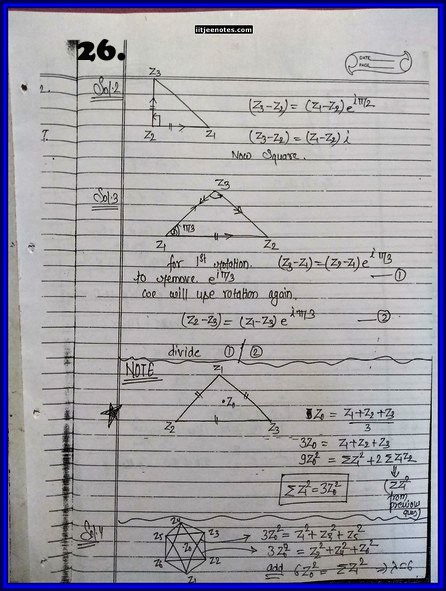 IITJEE Competition Notes On Complex Number