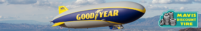 Goodyear and Mavis Discount Tire are giving away free trips for two to ride in the Goodyear Blimp, to twenty four lucky prize winners!