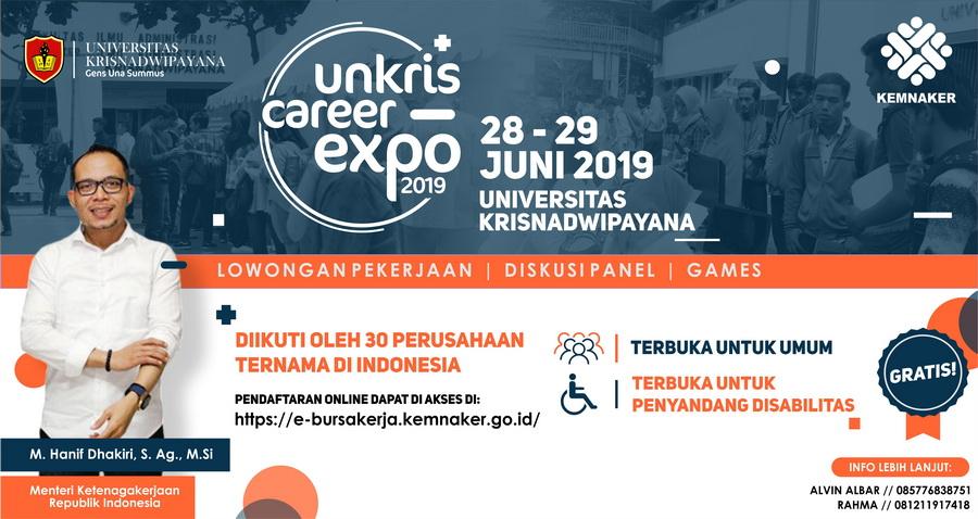 Ratusan Lowongan Kerja di Unkris Career Expo – Juni 2019