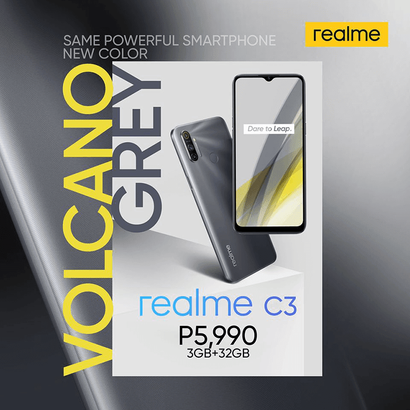 realme outs Volcano Grey C3 in PH for PHP 5,990!