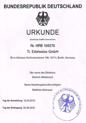 Сертификат Edelweiss5