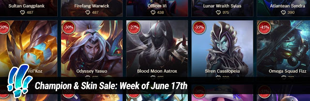 Surrender at 20: Champion & Skin Sale: Week of June 17th