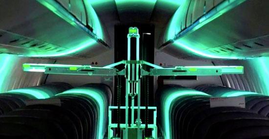 Robôs Suíços com Luz Ultravioleta exterminam o CORONAVÍRUS em aviões