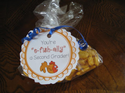 Goldfish gift tag