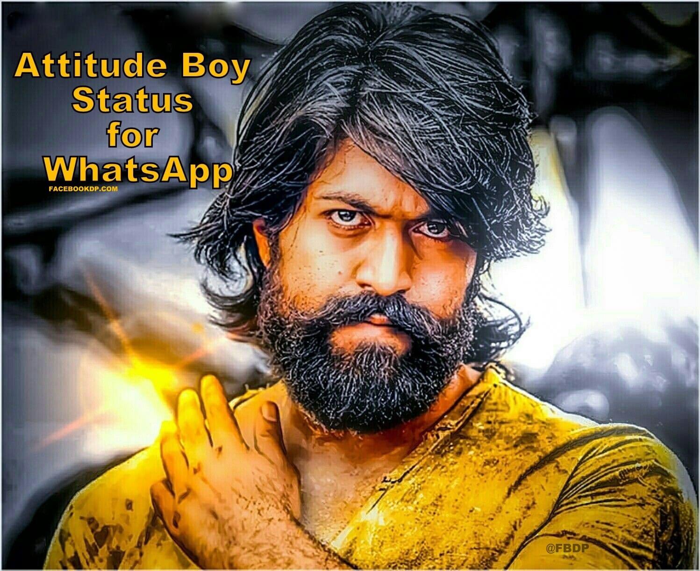 Attitude Boy Status