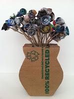 jarrón, cartón, jarrón 3D, manualidades, reciclar, decoración